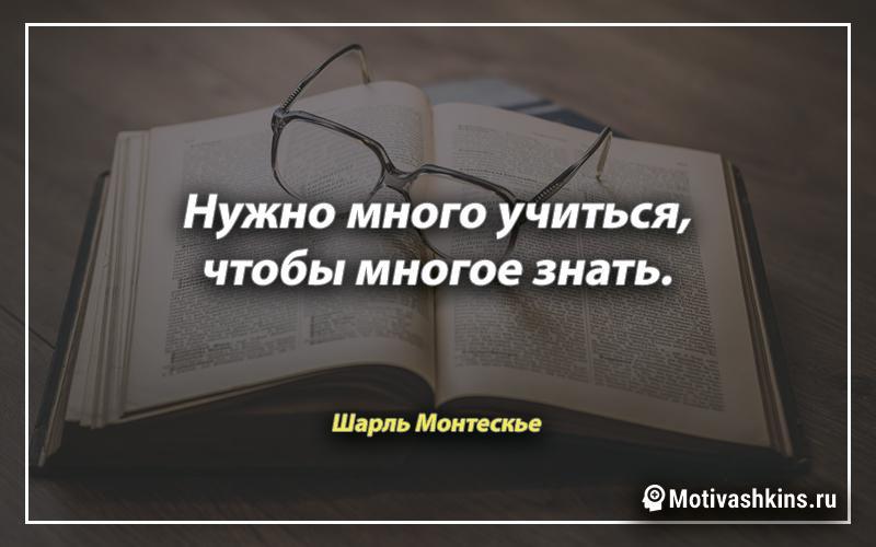 Нужно много учиться, чтобы многое знать.