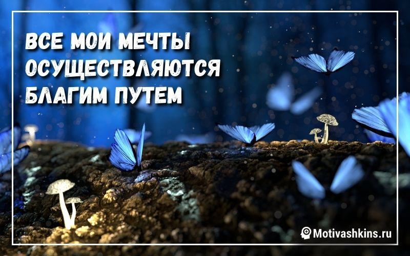 Все мои мечты осуществляются благим путем